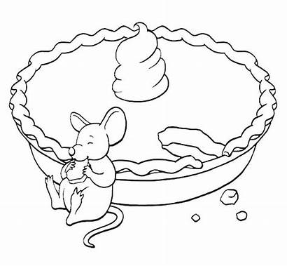 Coloring Pie Cake Eating Mouse