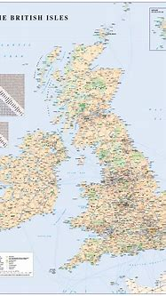 GB Map with road distance chart - £25.99 : Cosmographics Ltd