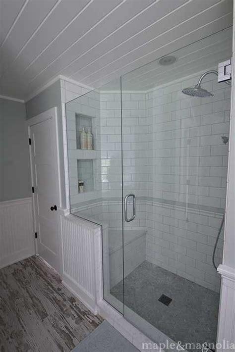 Spa Bathroom Showers by Farmhouse Spa Bathroom Shower Tile Showers In 2019