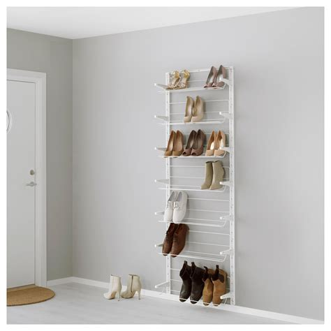 ikea shoe rack algot wall upright shoe organiser white 66x21x199 cm ikea