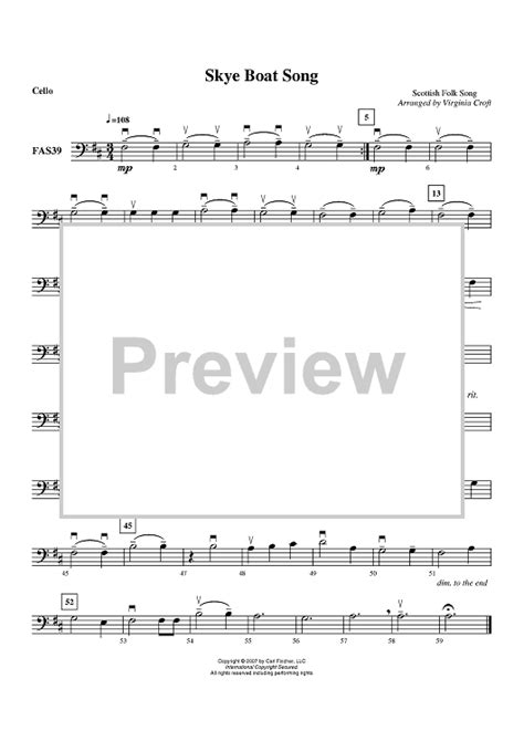 Skye Boat Song Trinity Grade 2 by Skye Boat Song Cello Sheet Music For Piano And More