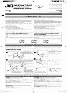 Jvc Kw R500un R500  Kw R400 User Manual Get0788 008a