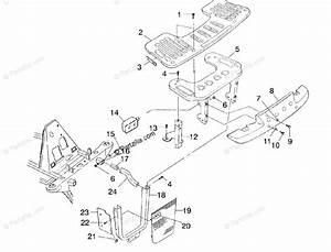 Polaris Atv 2000 Oem Parts Diagram For Front Rack  U0026 Bumper