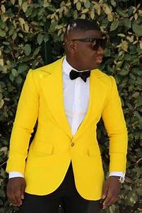Custom Made Yellow Mens Suits Tuxedos For Wedding Party ...