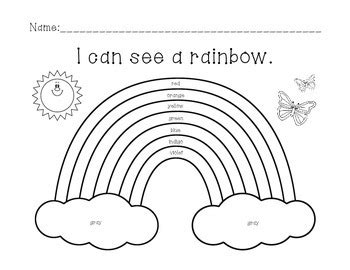 How Many Colors In A Rainbow Worksheets Rainbows And