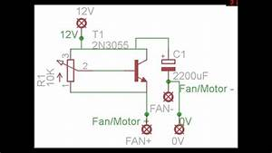 Diy Pc Fan  Dc Motor Speed Controller Circuit Diagram With Pcb Layout Ktips
