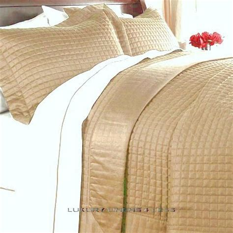Gold Coverlet by Hotel 400tc Cotton Gold Quilt Coverlet Set King
