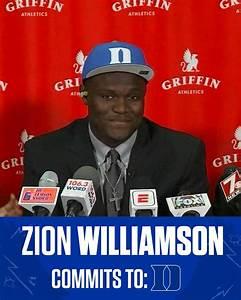 Blue Devil Nation Zion Williamson QuotI39m Going To Dukequot