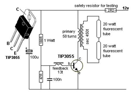 circuitos  esquema de lampada fluorescente compacta