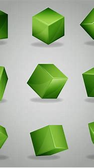 Set of green 3D cubes - Download Free Vectors, Clipart ...