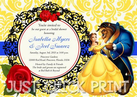 and the beast invitation template and the beast shower invite template and the beast bridal shower or birthday