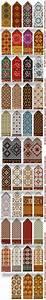 Latvian mittens, Fair isle knitting, ornamental, color ...