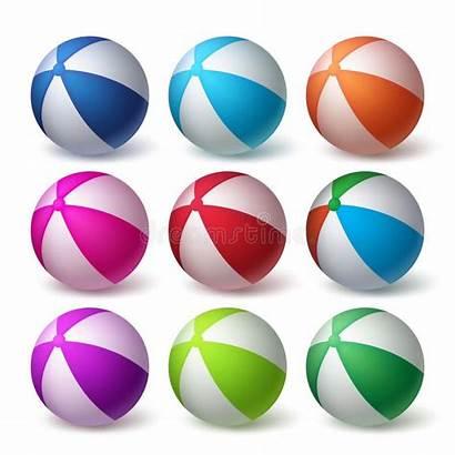 Ball Balls Rubber Colorful Swimming Clip Realistic
