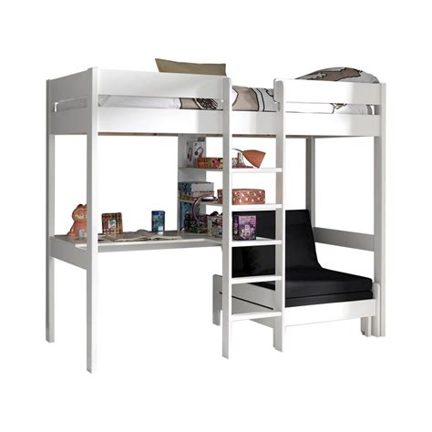 lit avec canapé acheter le lit mezzanine lena blanc