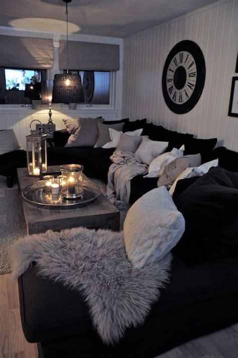 Living Room Black Furniture Decorating Ideas by 48 Black And White Living Room Ideas Decoholic