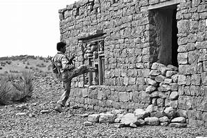 Invasion to the house by the armed soldier free image