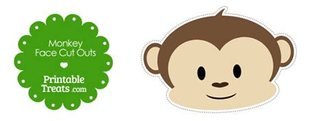 printable monkey face cut outs printable treatscom