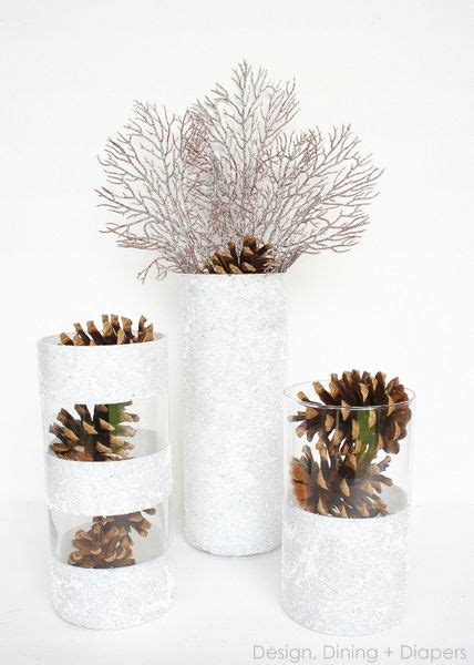winter vases  dollar store finds