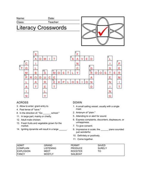 teaching resources worksheets literacy crosswords ks2 english tefl by auntieannie teaching