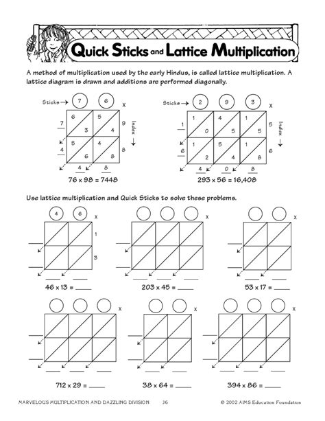 lattice multiplication worksheet worksheet mogenk paper