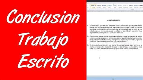 Como Trabajr Con Template En La Compu by Como Hacer La Conclusion De Un Trabajo Escrito En Word