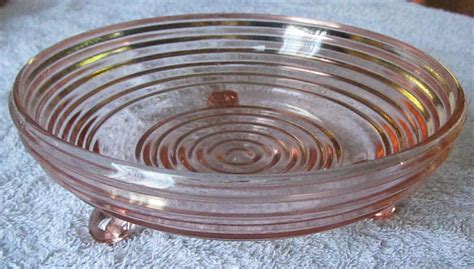Pink Depression Glass Candy Nut Dish Anchor Hocking