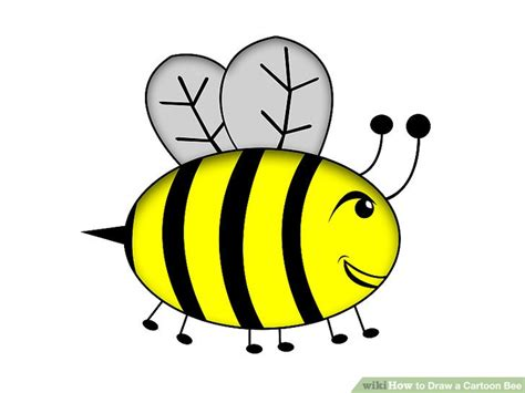 draw  cartoon bee  steps  pictures wikihow