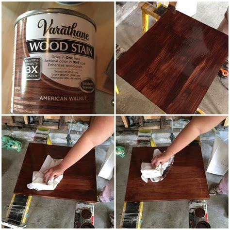 american walnut wood stain  varathane staining wood
