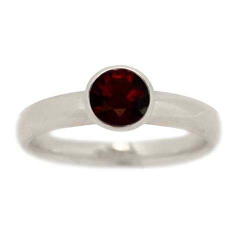 classic bezel garnet engagement ring alternative engagement rings turtle co jewelry