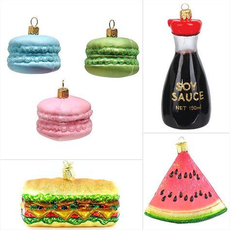 food themed christmas tree ornaments popsugar food