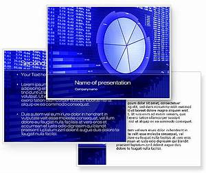 stock market ppt templates free download - stock market pie chart powerpoint template