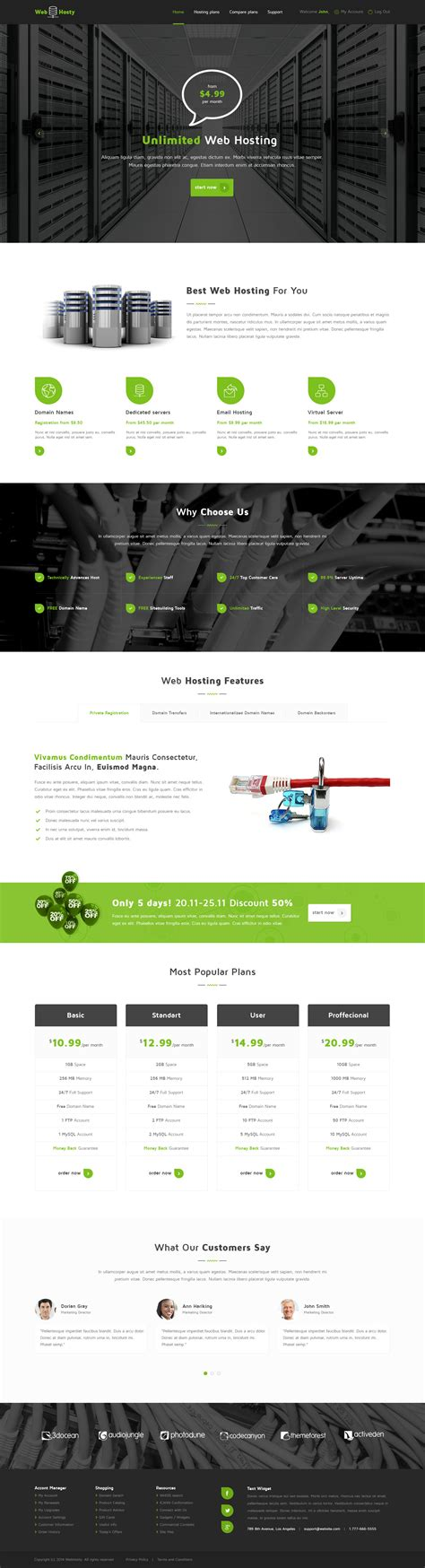 webhosty template webhosty hosting html template by templatation themeforest