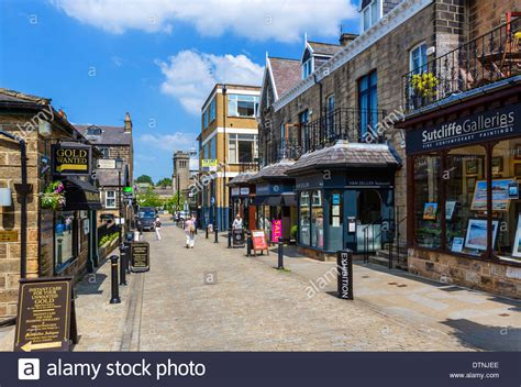 Shops on Montpelier Street in the old town centre ...
