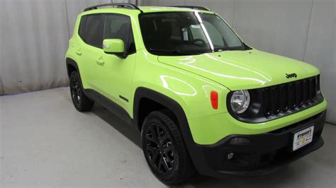 green jeep renegade 2017 jeep renegade hyper green latitude 14564 youtube