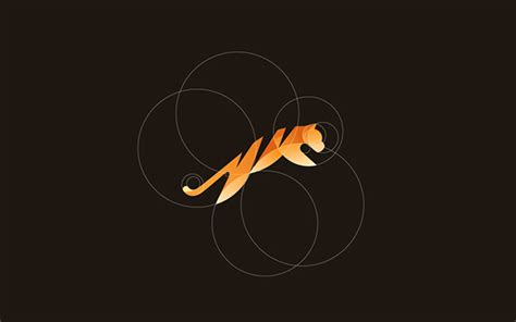 beautiful vibrant animal logos based   golden ratio