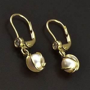 c529b9e04 Zlaté náušnice s perlou &md