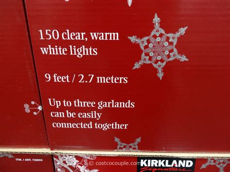 Kirkland Signature Pre-lit Decorated Holiday Garland
