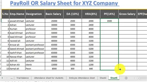 The monthly salary that is credited to your bank account is always less than what you signed up for in the employment offer letter. How to make salary sheet | Payroll or Payslip in excel 2016 | OfficeTutes.com