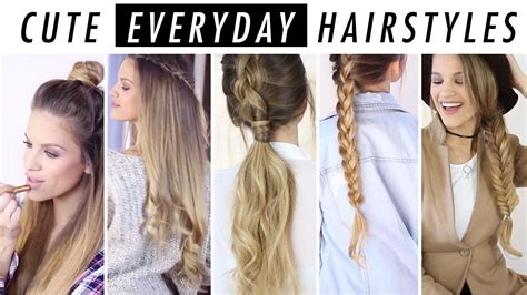 everyday hairstyle ideas  days  hair outfit inspo