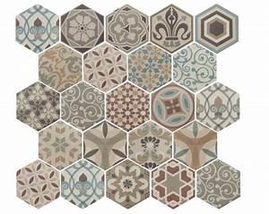 carrelage sol et mur c ciment imitation art deco 1 With carreaux de ciment hexagonaux
