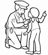 Coloring Security Guard Pages Police Officer Getdrawings sketch template