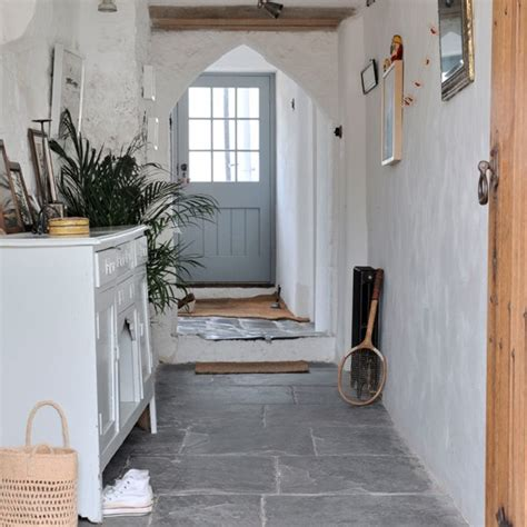country hallway ideas stone flagged white country hallway housetohome co uk