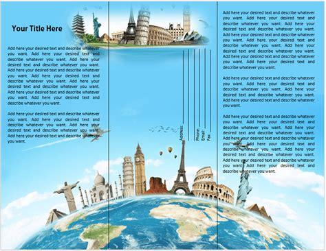 travel  tourist brochure template word templates