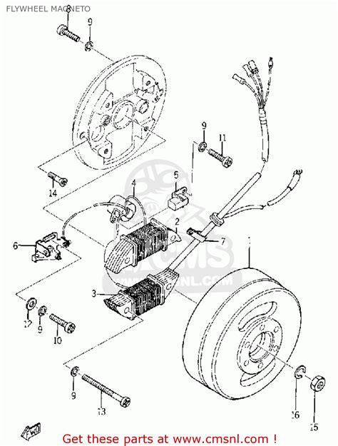 yamaha yg1 1964 flywheel magneto schematic partsfiche