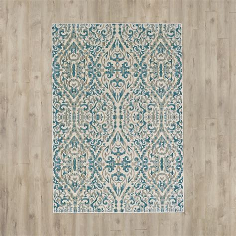 turquoise area rug bungalow saleya turquoise area rug reviews wayfair