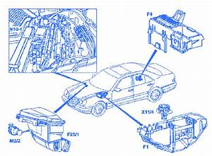 Mercedes Benz 320e 1998 Engine Fuse Box  Block Circuit Breaker Diagram  U00bb Carfusebox