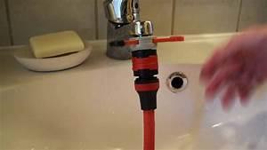Gardena Wasserhahn Adapter : gartenschlauch an wasserhahn anschlie en gardena adapter youtube ~ Buech-reservation.com Haus und Dekorationen