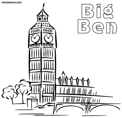 Big Coloring Pages Big Ben Free Colouring Pages