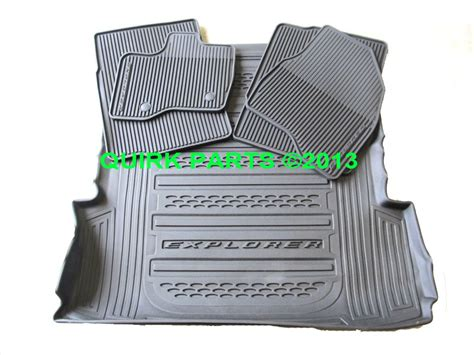 Ford Explorer All Weather Floor Mats - 2013 2014 ford explorer all weather protection floor mats