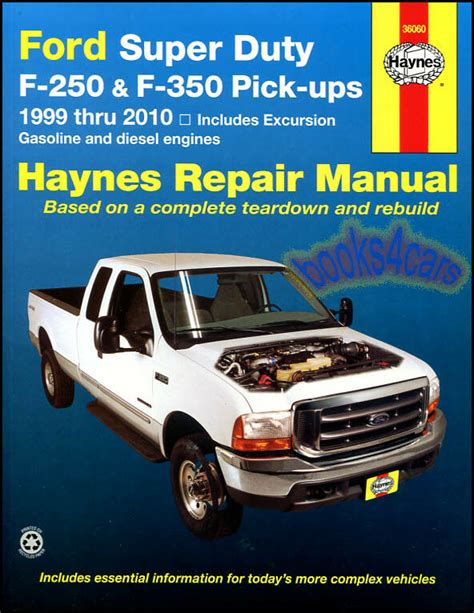 car maintenance manuals 2007 ford f series super duty electronic toll collection ford f250 shop manual service repair book haynes chilton sd diesel power stroke ebay